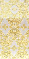 Sloutsk silk (rayon brocade) (white/gold)