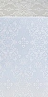 Sloutsk metallic brocade (white/silver)