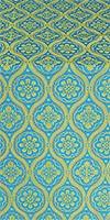 Byzantine silk (rayon brocade) (blue/gold)
