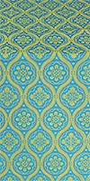 Byzantine metallic brocade (blue/gold)