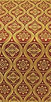 Byzantine metallic brocade (claret/gold)