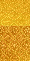Byzantine silk (rayon brocade) (yellow/gold)