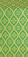 Byzantine silk (rayon brocade) (green/gold)