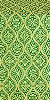Byzantine silk (rayon brocade) (green/gold)