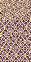 Byzantine metallic brocade (violet/gold)