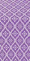 Byzantine metallic brocade (violet/silver)