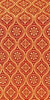 Byzantine silk (rayon brocade) (red/gold)