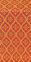 Byzantine metallic brocade (red/gold)
