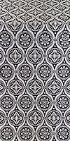 Byzantine metallic brocade (black/silver)