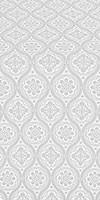 Byzantine metallic brocade (white/silver)