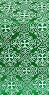 Alania silk (rayon brocade) (green/silver)