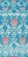 Pavlov Rose silk (rayon brocade) (blue/silver)