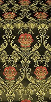 Pavlov Rose silk (rayon brocade) (black/gold)