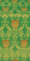 Pavlov Rose silk (rayon brocade) (green/gold)