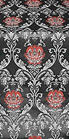 Pavlov Rose silk (rayon brocade) (black/silver)