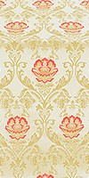 Pavlov Rose silk (rayon brocade) (white/gold)