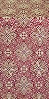 Vilno silk (rayon brocade) (claret/gold)