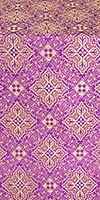 Vilno silk (rayon brocade) (violet/gold)