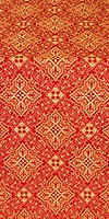 Vilno silk (rayon brocade) (red/gold)
