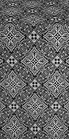 Vilno silk (rayon brocade) (black/silver)