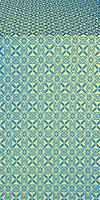Elets silk (rayon brocade) (blue/gold)