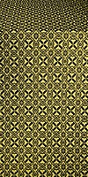 Elets silk (rayon brocade) (black/gold)