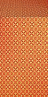 Elets silk (rayon brocade) (red/gold)
