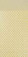 Elets silk (rayon brocade) (white/gold)