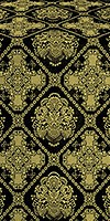 Donetsk metallic brocade (black/gold)