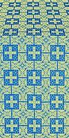 Czar's metallic brocade (blue/gold)