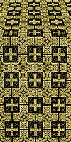 Czar's silk (rayon brocade) (black/gold)