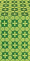 Czar's metallic brocade (green/gold)