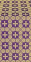 Czar's silk (rayon brocade) (violet/gold)