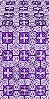 Czar's silk (rayon brocade) (violet/silver)