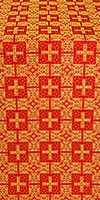 Czar's silk (rayon brocade) (red/gold)