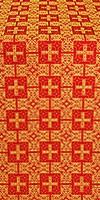 Czar's metallic brocade (red/gold)