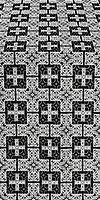 Czar's silk (rayon brocade) (black/silver)
