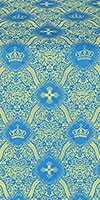 Kingdom silk (rayon brocade) (blue/gold)