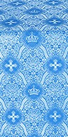 Kingdom metallic brocade (blue/silver)
