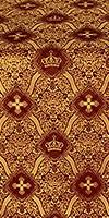 Kingdom metallic brocade (claret/gold)