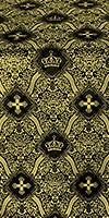 Kingdom metallic brocade (black/gold)