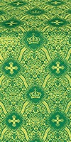 Kingdom metallic brocade (green/gold)