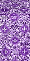 Kingdom metallic brocade (violet/silver)