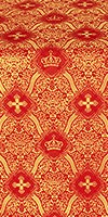 Kingdom metallic brocade (red/gold)