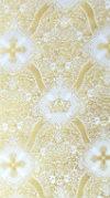 Kingdom metallic brocade (white/gold)