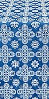 Bethlehem silk (rayon brocade) (blue/silver)