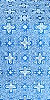 Ancient Byzantium metallic brocade (blue/silver)