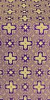 Ancient Byzantium silk (rayon brocade) (violet/gold)