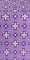 Ancient Byzantium metallic brocade (violet/silver)