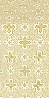 Ancient Byzantium silk (rayon brocade) (white/gold)